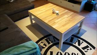 IKEA LACK HEMNES TISCH | pimpen  und verschönern mit Holz, Parkett oder Laminat | DIY Do it yourself