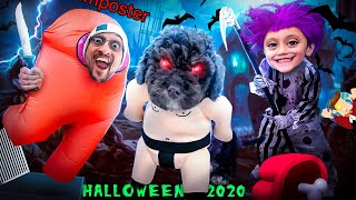 AMONG US for Halloween 2020!  (FV Family Trick or Treat Vlog)