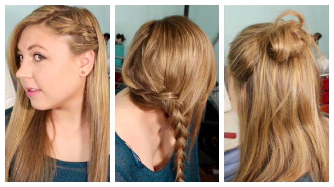 Back to School Hairstyles: Heatless, Fun, & Simple! - YouTube