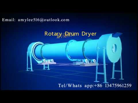 Rotary drum dryer for producing Organic fertilizer