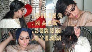 Hair Spa At Home Hair Oiling Hair Mask Hair Serum Hot Towel Steam