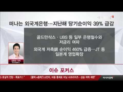 떠나는 외국계은행…지난해 당기순이익 39% 급감