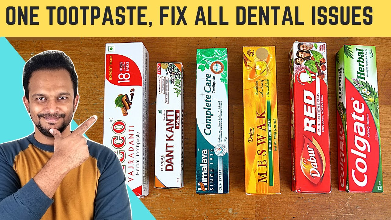 Download Which is Best Herbal Toothpaste for White Teeth, Gum diseases, Tooth Pain & Cavities