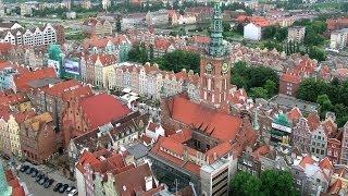 видео Город Гданьск и Балтийское море в Польше