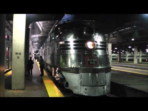 CB&Q 'Nebraska Zephyr' & E5 9911A 'Silver Pilot' at Chicago Union Station on 22.09.12
