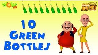 Motu Patlu and 10 green bottles in English - Kinetic Typography - #readalong