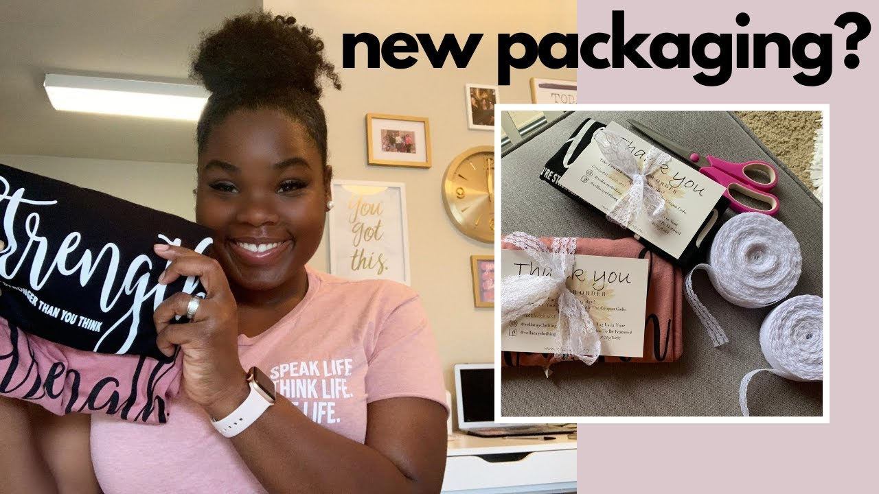 PACKAGE AND SHIP MY T-SHIRT ORDERS WITH ME + Brand New Packaging | ENTREPRENEUR LIFE!!