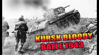 KURSK BLOODY BATTLE. TANK T-34 IN ACTION 1943