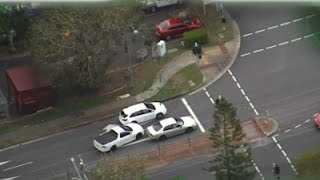Raw: Vehicle Drives Wrong Way in Police Chase