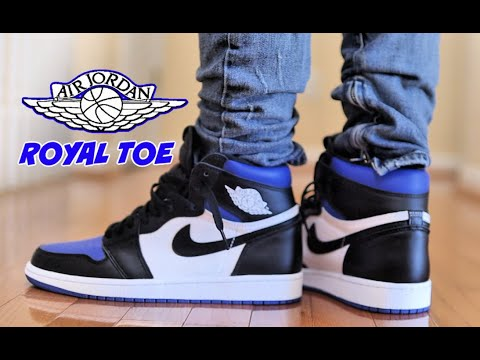 Best Aj1 2020 Jordan 1 Royal Toe Review On Feet Youtube
