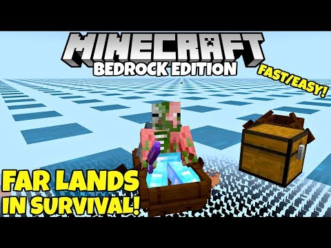 How To Reach The FAR LANDS In SURVIVAL! Super Fast Method! Minecraft Bedrock Edition