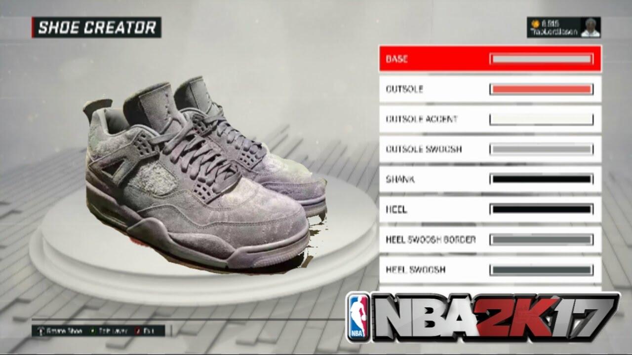 NBA 2K17 Shoe Creator - Jordan 4 KAWS