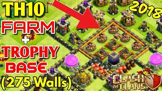 TH10 Farming Base 2018 |Without Infernos | Anti LAVALOON | Dark protection | Clash of Clans | 💪