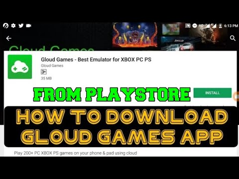 How To Download Gloud Games App From Playstore Youtube