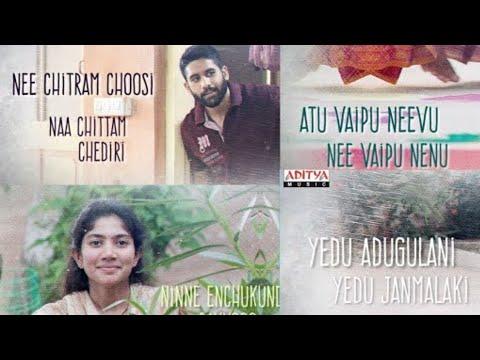 Nee Chitram Choosi Lyrical | Love Story Songs | Naga Chaitanya,Sai Pallavi | whatsapp status