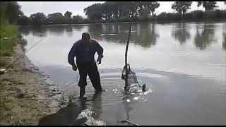 Рыбалка на реке Кубань.