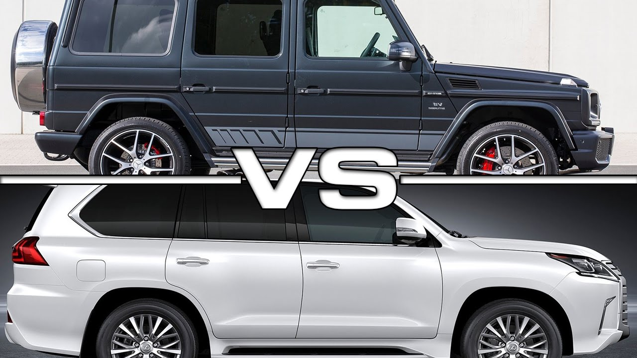 2016 mercedes benz g500 vs 2016 lexus lx570 youtube for Mercedes benz g500