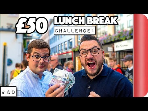 £50 LONDON LUNCH BREAK CHALLENGE!!