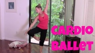Barre  Free Full Length 30Minute Cardio Ballet Workout (fat burning barre workout)