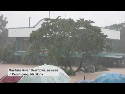 Flooding Submerges Manila , Bagyong Mario / Fung-wong Update