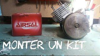monter un kit haut moteur cylindre piston  airsal: tuto meule