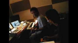 Gustavo  Cerati  & Leandro Fresco sesión en estudio.