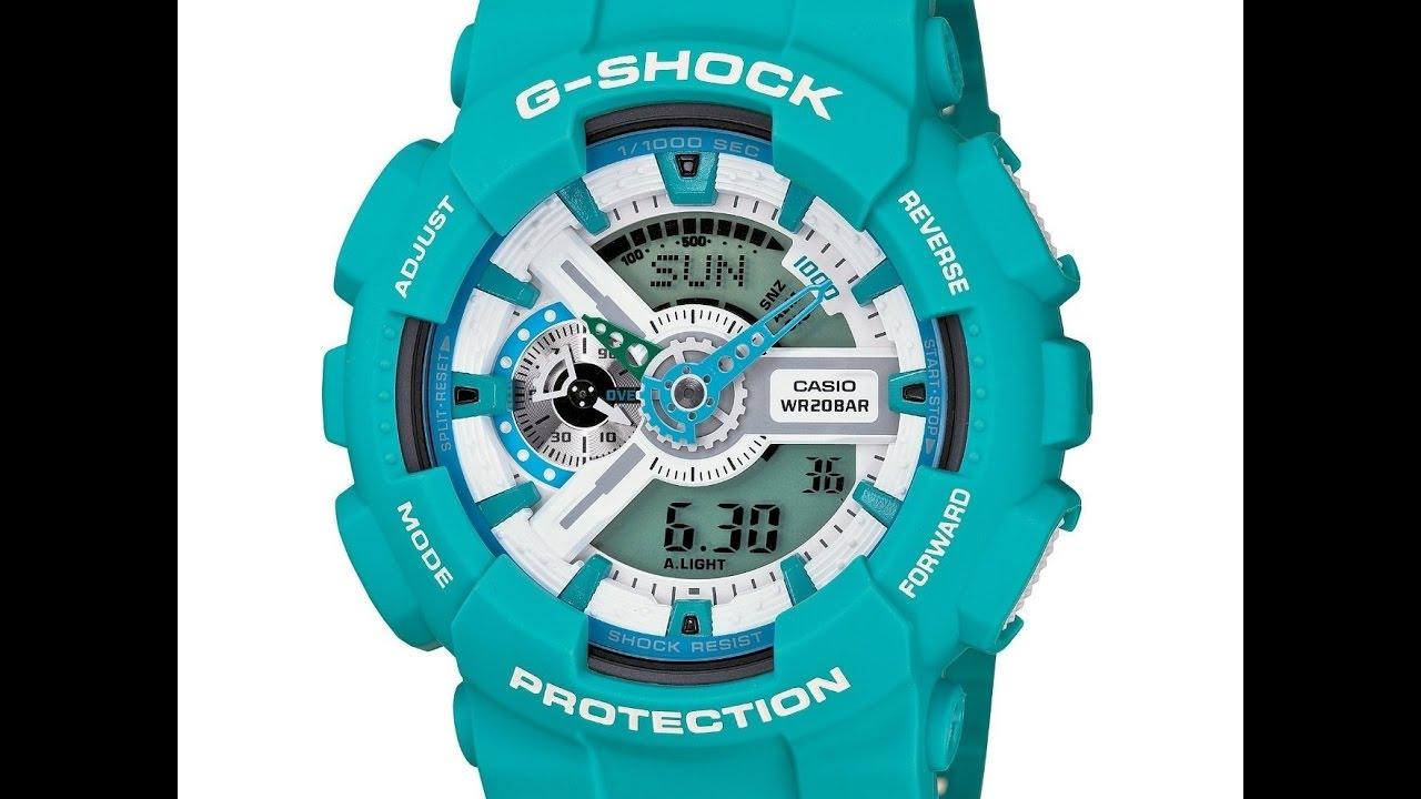 casio g-shock ga-110sn-7a инструкция