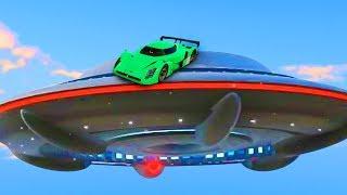 CARS vs. UFOs & ALIENS! (GTA 5 Funny Moments)