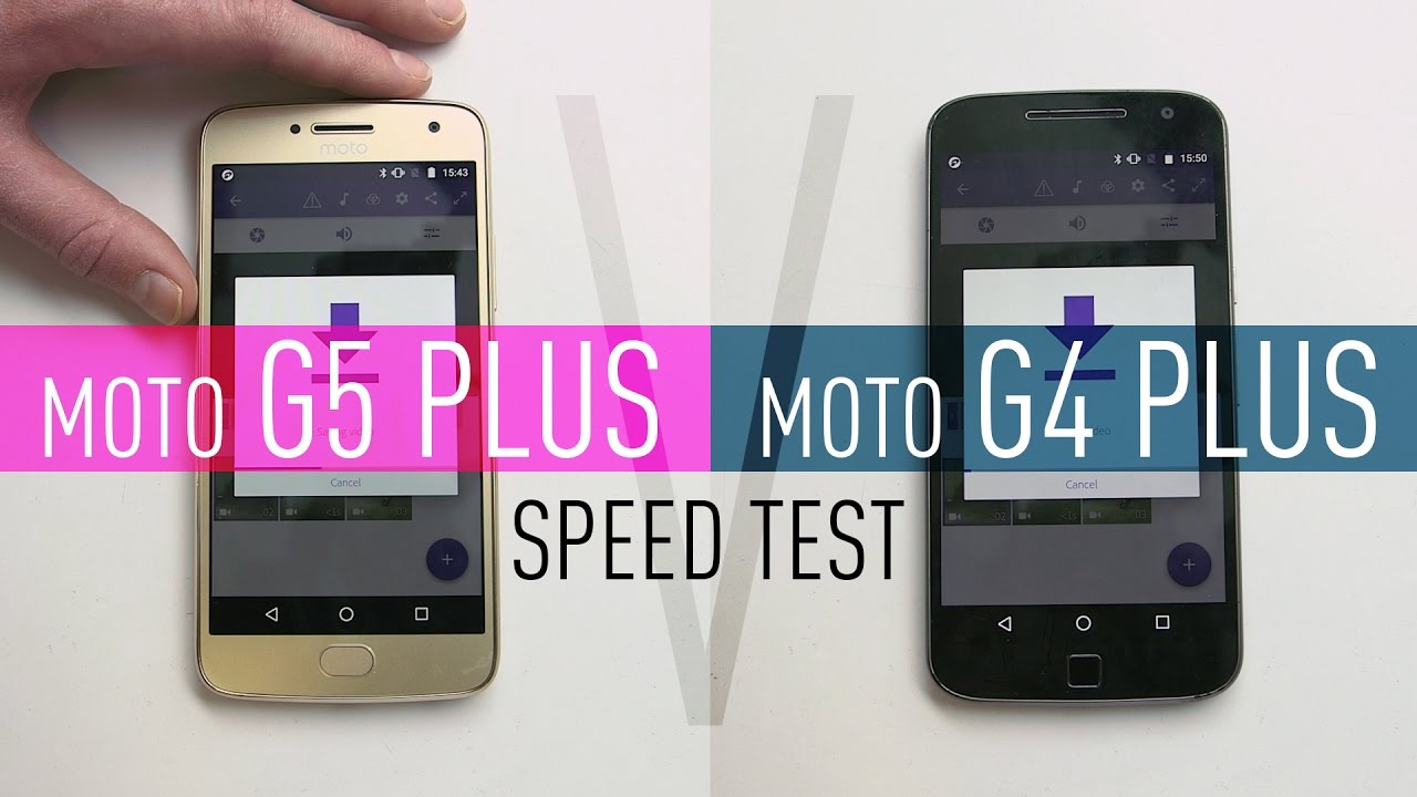 Moto G5 Plus v Moto G4 Plus: Speed Test