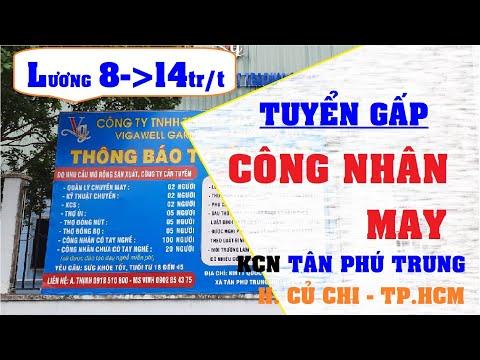 TUYỂN DỤNG CÔNG NHÂN MAY - LƯƠNG CAO | LÀM VIỆC KCN TÂN PHÚ TRUNG - CỦ CHI - TP.HCM