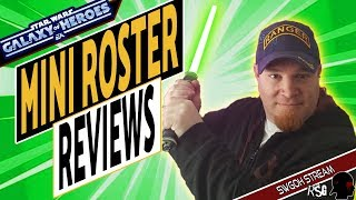 SWGOH Mini Roster Reviews and Fun on a Saturday night!!
