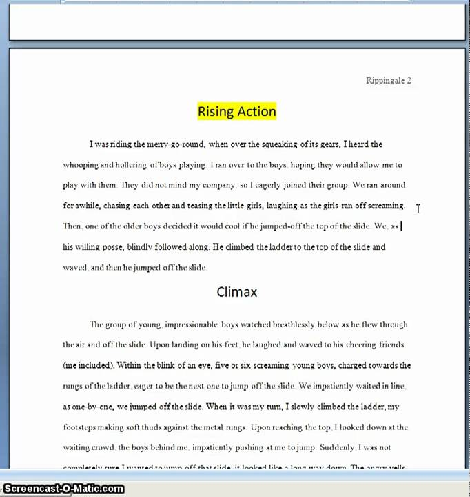 Narrative Essay With Dialogue Example Narrative Essay Personal