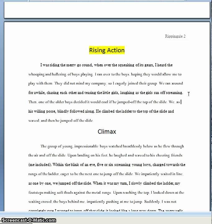 Narrative Essay Example - YouTube