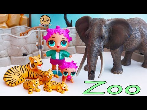 Thumbnail: Baby Animals At Zoo - LOL Surprise Lil Sisters Fun Playmobil Toy Video