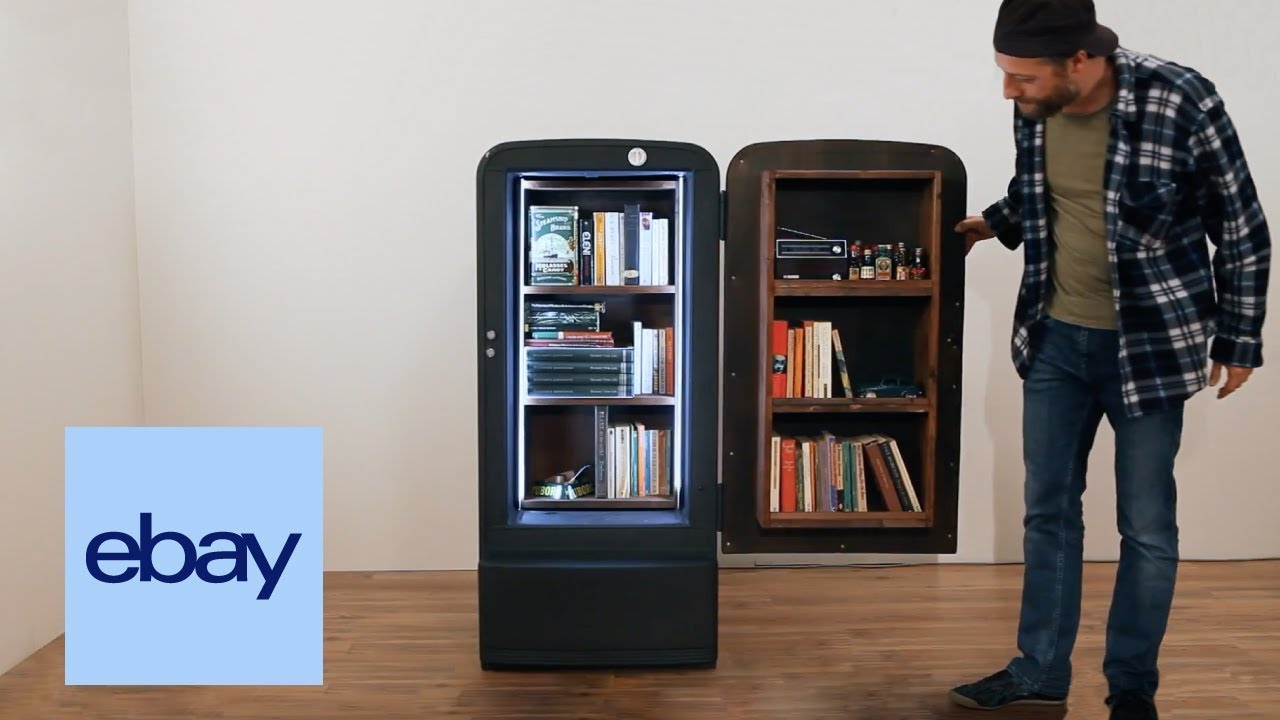 Credenza Con Frigo : Ebay #ebaylab u2013 come realizzare una libreria da frigo vintage