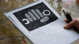 Rite in the Rain Weatherproof Paper - Rain Test