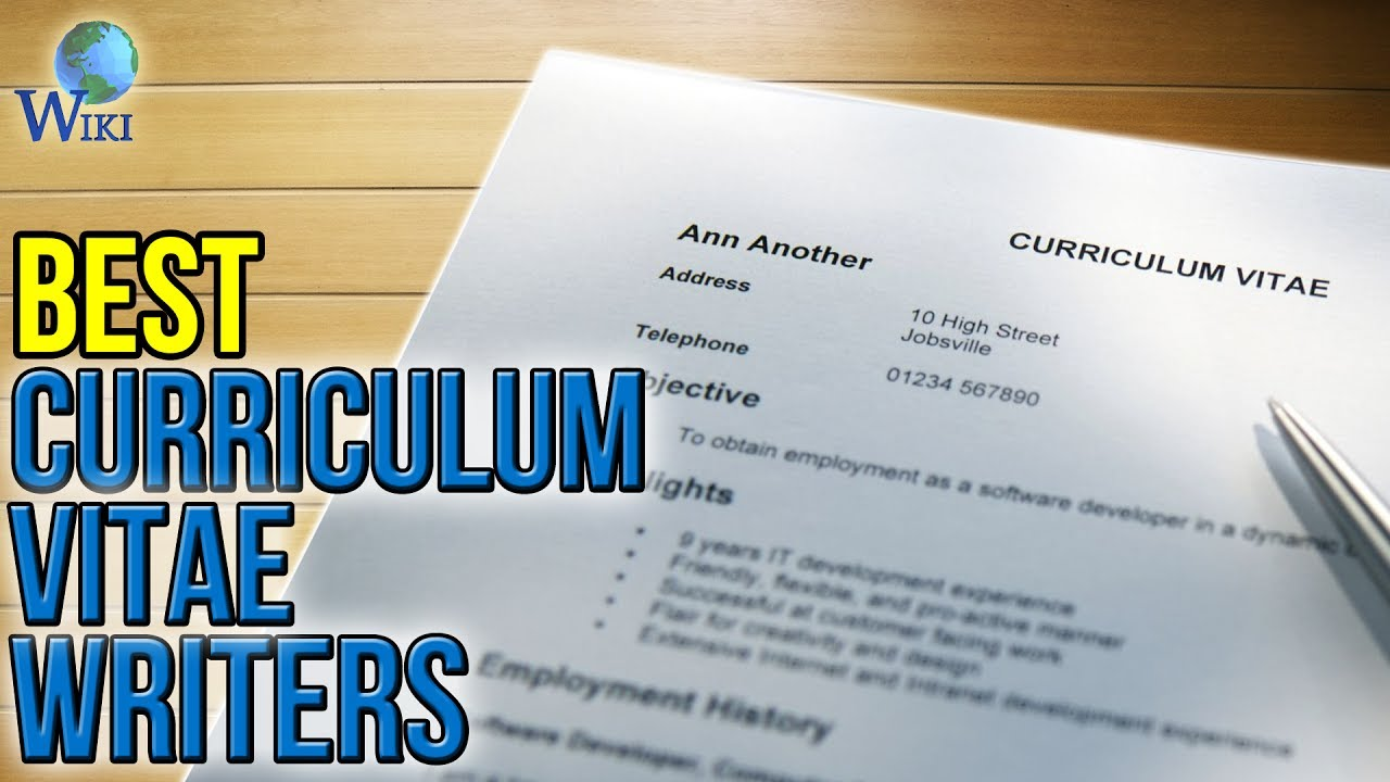 3 best curriculum vitae writers 2017