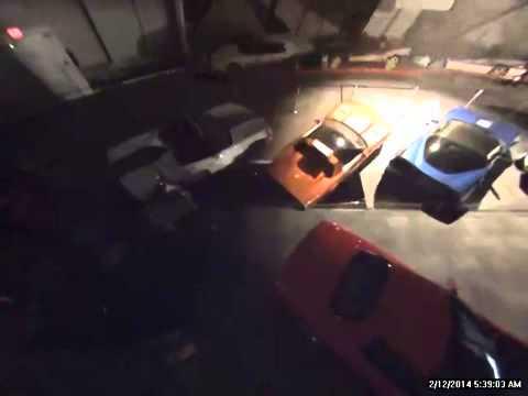 CCTV Watch 8 CORVETTES Slide Into SINKHOLE In Corvette
