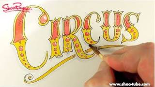 How to draw Circus writing
