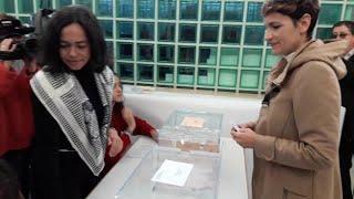 María Chivite vota en las elecciones generales