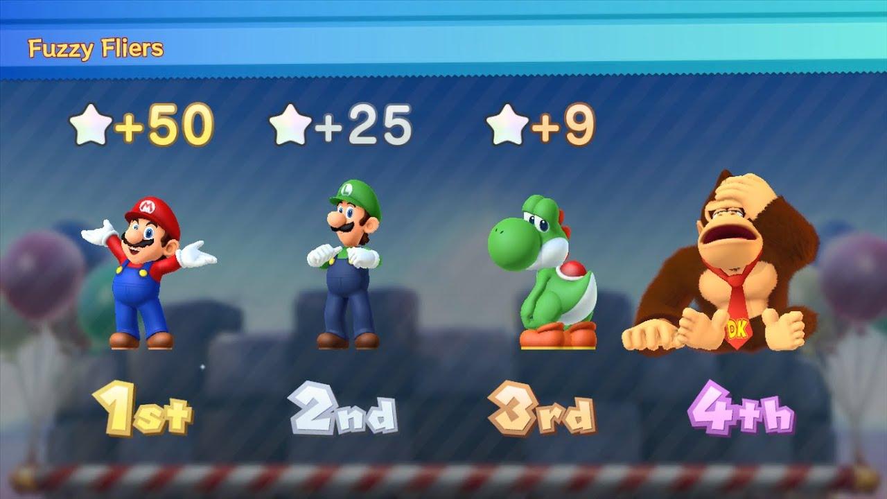Mario Party 10 - Mario vs Luigi vs Yoshi vs Donkey Kong - Mushroom Park