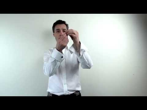 How to put on cufflinks and studs from for Tuxedo shirt without studs