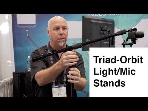 Triad Orbit Light And Microphone Stands NAB 2016