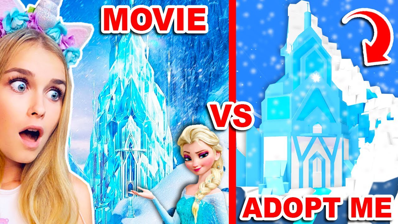 Download Recreated ELSA'S Castle From FROZEN In Adopt Me! (Roblox)