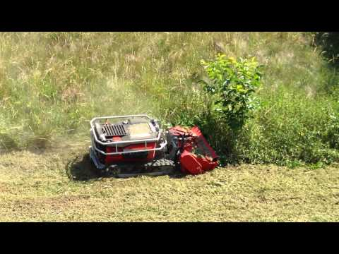 Timan RC-1000 slope mower with flail head