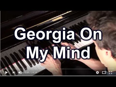 How to play GEORGIA ON MY MIND in C Jazz Piano College 225