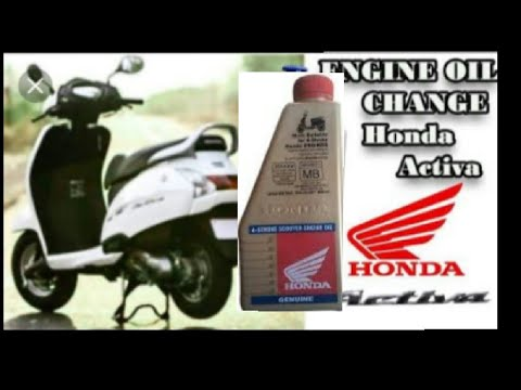 How to change engine oil activa 2018 video...