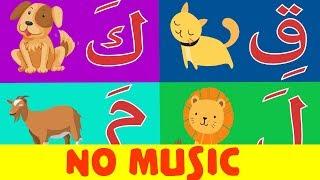 Arabic alphabet song no music 10 - Chanson Alphabet arabe sans musique 10 - 10 أنشودة الحروف العربية