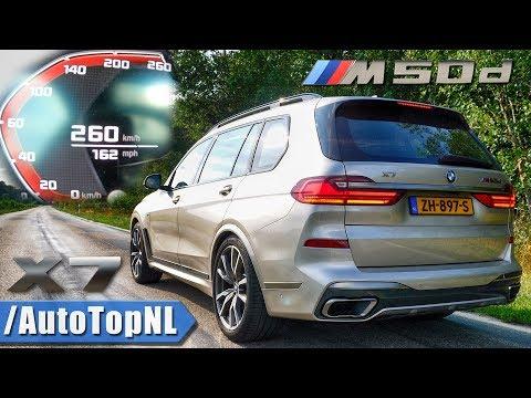 Watch the BMW X7 M50d do high speed run on the Autobahn