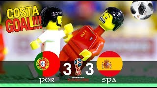 LEGO World Cup 2018 PORTUGAL Vs SPAIN - COSTA GOAL